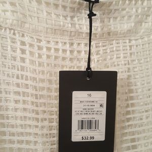 Who What Wear Skirts - *NEW* Birdcage Sheer Cutout Midi Skirt -Size 16